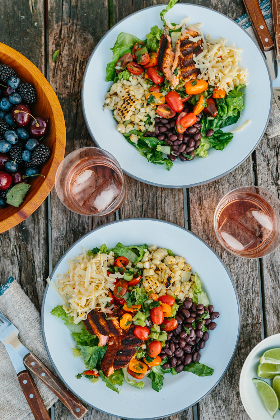 Grilled Salmon Taco Salad // the year in food